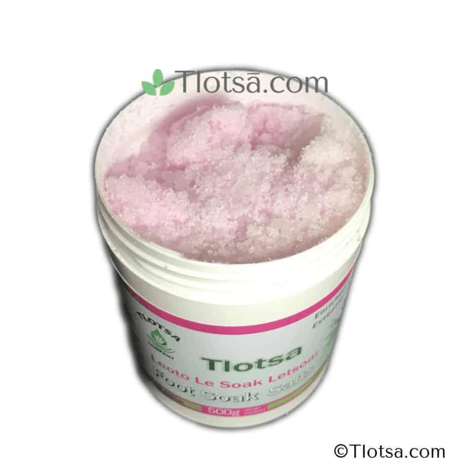 Tlotsa Foot Soak Salts Inside